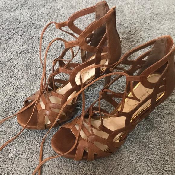 0f7d699922e Jessica Simpson Racine lace up Gladiator heel. M 5a53b028f9e5017ad20113ec